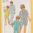 SIMPLICITY PATTERN 6427 FOR CHILD'S PAJAMAS 2 LENGTHS 2 VARIATIONS SIZES 10 & 12