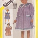 SIMPLICITY PATTERN 6348 FOR A CHILD'S GUNNE SAX DRESS IN 3 VARIATIONS IN SIZE 4