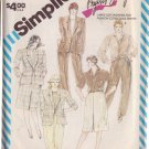 SIMPLICITY PATTERN 6339 FOR A MISSES' PANTS, SKIRT, JACKET IN SIZE 22 UNCUT