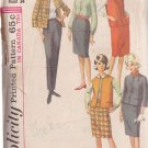 SIMPLICITY PATTERN 6132 MISSES' JACKET 2 STYLES, BLOUSE, SKIRT, SLACKS SIZE 14