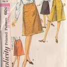SIMPLICITY PATTERN 6091 MISSES' SET OF SKIRTS IN 2 VARIATIONS WAIST SIZE 28