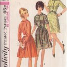 SIMPLICITY PATTERN 6042 MISSES' ONE PIECE DRESS IN 3 VARIATIONS SIZE 14