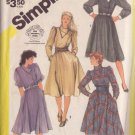 SIMPLICITY PATTERN 6025 MISSES' ASYMMETRICAL DRESS IN 3 VARIATIONS SIZE 12