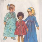 SIMPLICITY PATTERN 5994 TODDLERS' ROBE IN 2 LENGTHS, NIGHTGOWN  SIZE 3