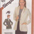 SIMPLICITY PATTERN 5926 MISSES' JIFFY UNLINED JACKET SIZES 6-8-10