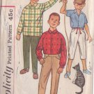 SIMPLICITY PATTERN 4017 CHILD'S SHIRT, CONTINENTAL PANTS 2 LENGTHS SIZE 6