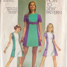 SIMPLICITY PATTERN  8922 MISSES' OR JUNIORS' MINI DRESS SIZE 9JP UNCUT
