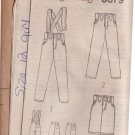 SIMPLICITY PATTERN  8879 CHILD'S PANTS WITH SUSPENDERS, SKIRT SIZE 12 UNCUT