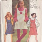 SIMPLICITY 9776 PATTERN DATED 1971 TEEN'S MINI-JUMPER, DRESS, BLOUSE SIZE 11/12