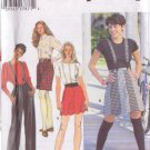 SIMPLICITY 9516 PATTERN MISSES' SUSPENDER SKIRT, SHORTS, PANTS SIZE 4/6/8 UNCUT
