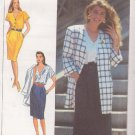 SIMPLICITY 9511 PATTERN MISSES' DRESS, UNLINED JACKET SIZES 6-14 UNCUT