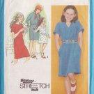 SIMPLICITY 9486 PATTERN DATED 1980 GIRL'S PULLOVER SWEATSHIRT DRESS SZ 7/8/10