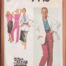 SIMPLICITY 9448 PATTERN MISSES' SKIRT, PANTS, BIAS TOP, UNLINED JACKET SIZE 14