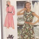 SIMPLICITY 9444 PATTERN DATED 1980 MISSES' PULLOVER DRESS IN SIZE 14