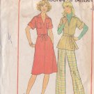 SIMPLICITY 7583 PATTERN MISSES' PULLOVER DRESS OR TOP AND PANTS SZS 20.5 & 22.5