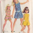SIMPLICITY 7564 PATTERN CHILD'S CHUBBIE PANTDRESS OR PANT JUMPER SZ 12 1/2C