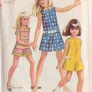 SIMPLICITY 7564 PATTERN SZ 12 1/2C CHILD'S CHUBBIE PANTDRESS OR PANT JUMPER