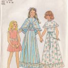 SIMPLICITY 7413 PATTERN CHILD'S DRESS IN 2 LENGTHS, SHAWL SIZES 12 & 14