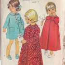 SIMPLICITY 7375 PATTERN SIZE 1 TODDLERS' ROBE 2 LENGTHS, NIGHTGOWN