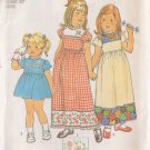 SIMPLICITY 7199 PATTERN CHILD'S DRESS IN 2 LENGTHS, 3 VARIATIONS SIZE 5 UNCUT