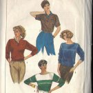 SIMPLICITY 6710 PATTERN SET OF MISSES' TOPS MADE WITH STRETCH KNITS SZ 12