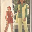 Simplicity 6604 dated 1974 misses vest, pants, blouse in a size 18