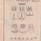 McCALL'S PATTERN 4756 CHILD'S OVERALLS IN 3 VARIATIONS, JUMPER, SUNSUIT SIZE 3