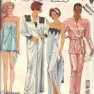 McCALL'S 3474 DATED 1987 MISSES' ROBE & BELT, NIGHTGOWN, CAMISOLE, PANTS, SHORTS