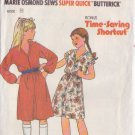 BUTTERICK PATTERN 6658 CHILD'S DRESS 2 VARIATIONS SIZES SM/MD/LG
