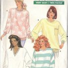 BUTTERICK PATTERN 6020 DATED 1988, MISSES TOPS 4 LOOKS SZ PET, SM, MD, L, XL