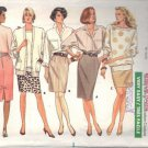 BUTTERICK PATTERN 5880 MISSES' ONE YARD SKIRTSIZES 6-8 & 10-12 UNCUT