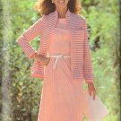 BUTTERICK PATTERN 5856 MISSES' ONE-PIECE DRESS, JACKET SIZES 8-10-12 UNCUT