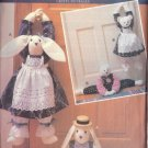 "BUTTERICK PATTERN 5825 DATED 1991, BUNNY & BEAR DRAFT STOPPERS 30"" TALL UNCUT"