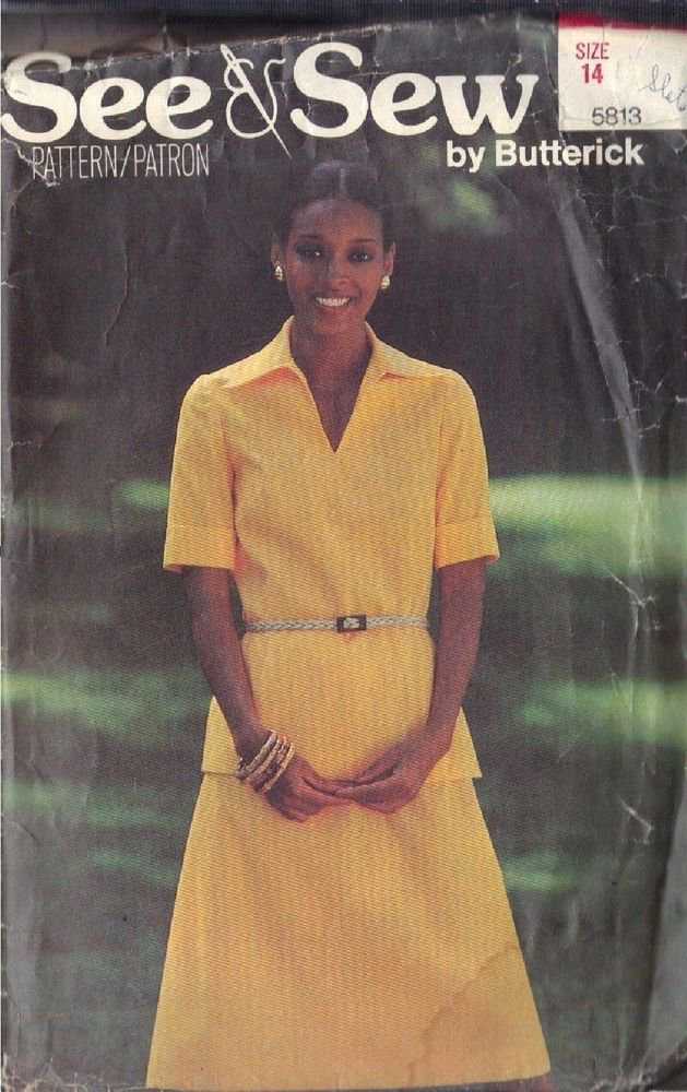 BUTTERICK PATTERN 5813 MISSES' TOP AND SKIRT SZ 14