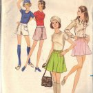"BUTTERICK PATTERN 5748 MISSES' MINI SKIRT OR PANTSKIRT SIZE 25 1/2"" WAIST"