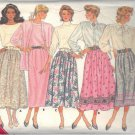 BUTTERICK PATTERN 5736 MISSES' SKIRT IN 5 VARIATIONS SIZES 8-10-12
