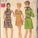 BUTTERICK PATTERN 5697, MISSES' ONE-PIECE MINI DRESS SIZE 14