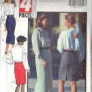BUTTERICK PATTERN 5655 MISSES' SKIRT IN 2 LENGTHS SIZES 18 & 20 UNCUT