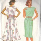 BUTTERICK PATTERN 5649, MISSES' DRESS IN TWO VARIATIONS SIZES PETITE/SM/MED