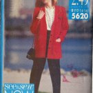 BUTTERICK PATTERN 5620 MISSES' JACKET, TOP, PANTS SIZES 12-14-16 UNCUT