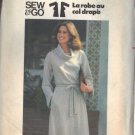 BUTTERICK PATTERN 5609 MISSES' DRESS WITH FUNNEL COLLAR SIZE SMALL 8-10 UNCUT