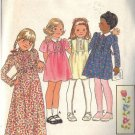 BUTTERICK PATTERN 5602 FOR GIRLS' DRESS IN 4 VARIATIONS IN SIZE 4 UNCUT