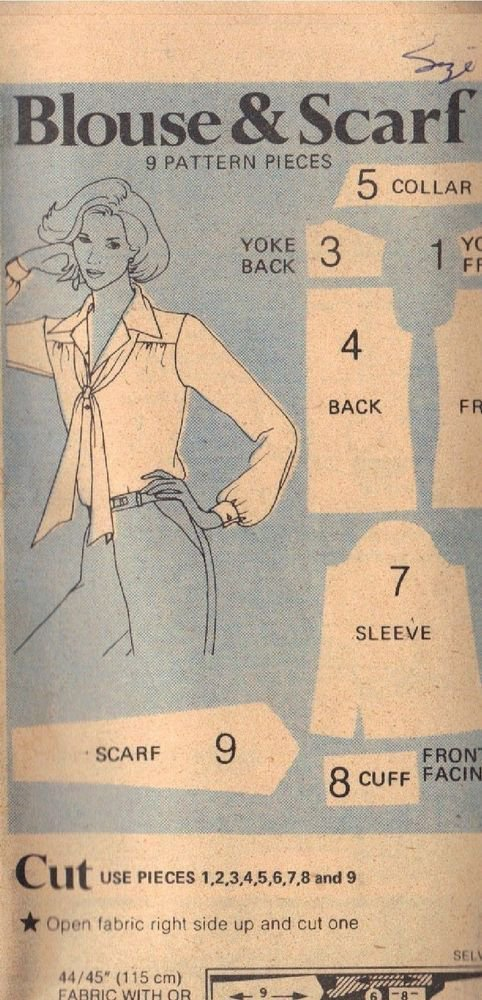 BUTTERICK PATTERN 5524 MISSES BLOUSE IN 4 VARIATIONS SZ 10