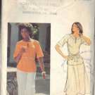 BUTTERICK PATTERN 5478 MISSES' TOP, SKIRT, PANTS AND BELT SZ 12