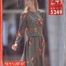 BUTTERICK PATTERN 5249 MISSES' TOP AND SKIRT SIZES 8-10-12