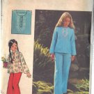 BUTTERICK PATTERN 4190, GIRLS' TOP AND PANTS SIZE 7 UNCUT