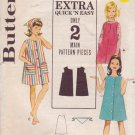 BUTTERICK PATTERN 3125 GIRLS' DRESS, BEACH DRESS, SCARF SIZES 10