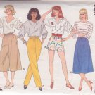 BUTTERICK 3068 PATTERN MISSES' SHORTS, PANTS, SKIRT, CULOTTES SIZES 14/16/18