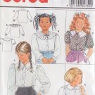 BURDA PRINTED PATTERN 4755 GIRL'S BLOUSES 3 VARIATIONS SIZES 4/6/8/10/12 UNCUT