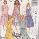 McCALL'S PATTERN 4705 MISSES' JUMPER, DRESS IN 4 VARIATIONS SIZES 12/14